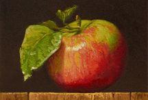 ceramiczne liście i owoce