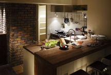 Brick kitchen / 煉瓦造りのキッチン。もしくはそれにアレンジし易そうなキッチン。