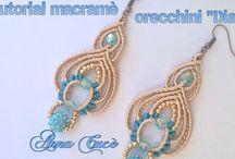 orecchini macrame