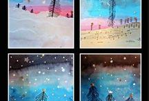 peinture hiver