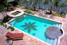 Swimming Pools / Ideas for your cooling backyard retreat. Find more inspiration for swimming pool designs at: http://www.landscapingnetwork.com/swimming-pool/  / by Landscaping Network