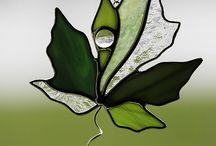 ステンドグラス 植物