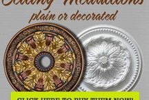 Architectural Ornaments Décor / Decorative finishes for architectural ornaments, like crown moldings, decorative ceiling medallions, corbels, columns and more.