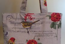 Sac à bandoulière < Oiseaux et fleurs >