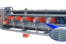 Five Head Bender Machine / This machine adopts only up-bending way, it can produce rebar up to 2 meter square, it is different from the old machine downward bending way , the length bar for square is limited by the shaft from the ground. This machine can be cooperative with the straightening machine .
