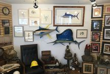 Nature Inspired Home / Nick Mayer Art examples of art on display in beautiful homes.
