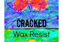 Wax resist art