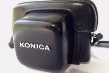 KONICA Vintage Black leather CASE for Rangefinder Cameras From Japan