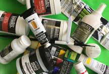 Acrylic paints and mediums