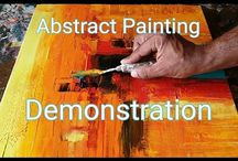 Abstract painting video