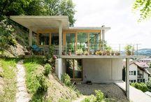 Steep slope houses