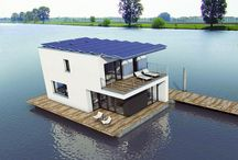 Houseboat/floating home lifestyle / Amazing floating homes and houseboats spotted all over the world!