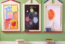 Playroom + Homeschool Room Inspiration / Awesome ideas to incorporate into playrooms or homeschool rooms! Hours of fun, creativity, and learning no doubt!