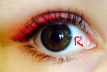 RWBY inspired eye make up / Eye make up I did with inspiration from that main 4 characters Ruby Weiss Blake and yang