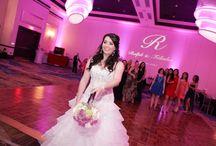 Pink Uplighting / White Rose Entertainment Weddings with Pink Uplighting