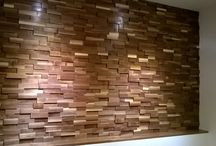 Our Project December 2016 / Our American customer used Striped - Walnut - Wide - Sleek - Varnished panels for this project.