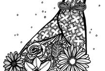 Adult Coloring Pages and Tips / Your go-to resource board for everything adult coloring! Get free printable colouring pages for adults (legally!) , tips for coloring complex pages, and more.