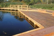 Wooden Jetties & Pond Dipping Platforms / We make bespoke wooden jetties and pond dipping platforms to meet your exact needs. Each structure helps encourage individuals to get into nature. See more here: http://www.thewilddeckcompany.co.uk/product-portfolio/pond-dipping-platforms/