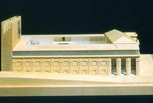 Concorso Galleria Comunale Arte Moderna e Contemporanea Roma, modello ligneo, scala 1:200
