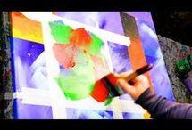 pintura con cintas