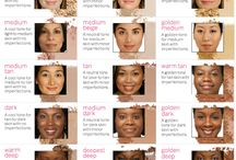 Skin Undertones / A board to help you to determine what your skin's undertones are so that you can better choose your makeup and clothing.