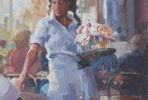 Nancy Tankersley / Nancy Tankersley paintings exhibited at Brazier Gallery