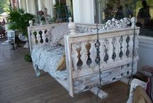 recycled ~ rehABBED~   furniture / favorites in the  furniture world... love  building   from beautiful old parts...nothing   particleboard or  that  comes in a box  here...