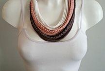 Pamut nyaklánc, sál /Cotton scarf or necklace/