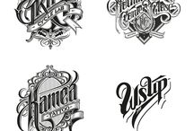 Type / Typography, calligraphy and the art of words.