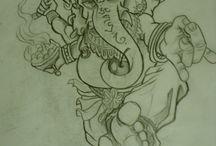 Ganesh tattoo ideas