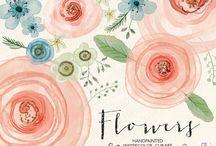 Wathercolor flower