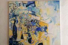 Leinwand / Hier sind  Ausschnitte aus meiner künstlerischen Arbeit zu sehen. www.suelzle-thoma.de