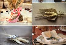 wheat wedding decor