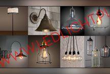 Lampy vintage oraz industrial / Zdjęcia lamp sprzedawanych przez firmę Gideon Tomasz ZIentek poprzez sklep internetowy pod adresem www.ledlicht.pl