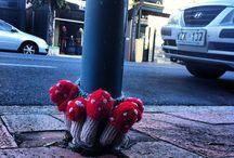 Urban Knitting - Yarn bombing