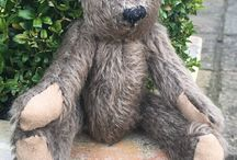 Stanley Bear / A handmade mohair bear that will be featuring in craft videos...