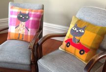 Upcycled Blanket Cushions