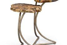 Ideas para mesa con madera petrificada