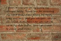 Bricks in my spiritual wall
