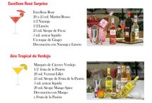 Cocktails Marqués de Cáceres / Ingredientes y medidas Cocktails con vino Marqués de Cáceres