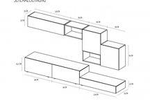 Nábytek-schematické nákresy
