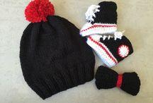 Kids accesories / Hairband, bow, crochet and knitt
