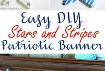 All Things U.S.A.   A Patriotic Board / Patriotic Home Decor, Patriotic Crafts, U.S.A., Fourth of July, Memorial Day, United States Holidays, Patriotic Desserts and Foods
