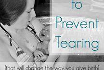 Preventing tearing in childbirth