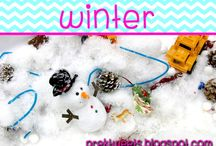 Winter / Fall center ideas, math games, and literacy ideas for pre-k and kindergarten.