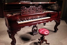 Antique Square Grand Pianos / These are some of the antique Square Grand pianos restored and/or for sale at the Antique Piano Shop. To see more pianos, visit: www.antiquepianoshop.com / by Antique Piano Shop
