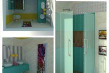 Meus projetos / Projeto Conceitual: Banheiro Brasília Ipê!!! Além de ser inspirado  na explosão  de cores que toma conta de Brasilia na época  da seca, este projeto inclui outr
