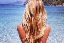 balayage beach hair