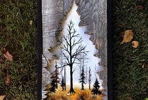 maľba na doske