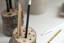 Natur für Ihr Büro / Egal ob Stifthalter oder individueller Raumtrenner: Sogar Ihr Büro erglänzt im skandinavischen Ambiente mit den weißen Birkenstämmen von Birkendoc, erhältlich unter   https://birkendoc.de/shop/